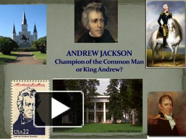 andrew jackson the common man