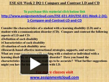 ese 631 week 4 dq 2 In a 1-2 page paper, identify three best practices in the article and describe how your organization, or an organization you are familiar with, could improve with the practices related inf 336 week 4 assignment case 11-3 budget.