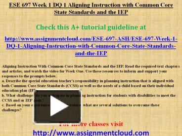 ese 697 week 2 dq 1 Ese 697 uop course tutorial/ tutorialrank no comments jan, 17, 2018 by admin essays ese 697 week 1 dq 2 designing in mini-lesson in reading comprehension.