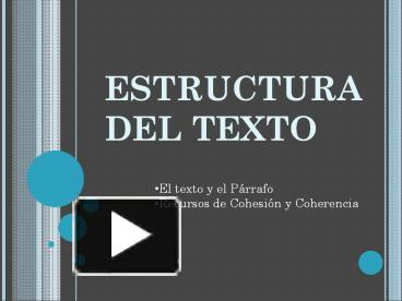 Ppt Estructura Del Texto Powerpoint Presentation Free To