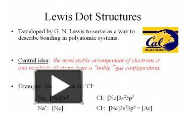 Ppt Lewis 20dot 20structures Powerpoint Presentation