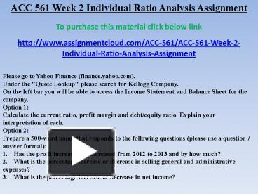 acc 561 week 1 individual assignment