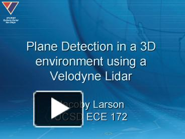 PPT – Plane Detection in a 3D environment using a Velodyne