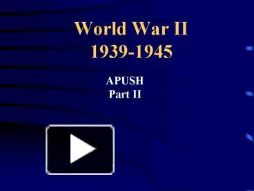 an analysis of world war ii World war ii questions and answers - discover the enotescom community of teachers, mentors and students just like you that can answer any question you might have on world war ii.