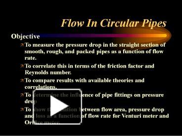 PPT – Flow In Circular Pipes PowerPoint presentation | free to