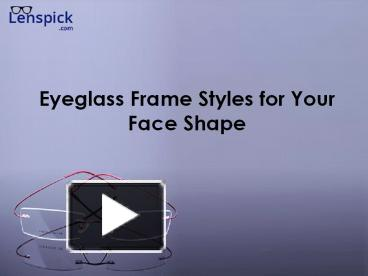98117a668c28 PPT – Eyeglass Frame Styles for Your Face Shape PowerPoint presentation