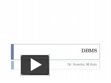 Ppt Dbms Powerpoint Presentation Free To Download Id 761e4e Mtjjm