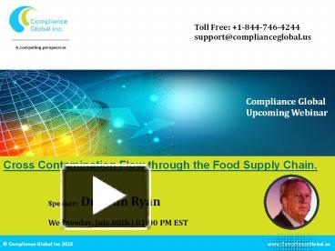 Ppt Cross Contamination Flow Through The Food Supply