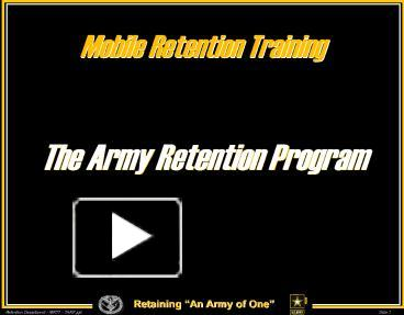 Ppt the army retention program powerpoint presentation free to ppt the army retention program powerpoint presentation free to view id 77b04b nduwy toneelgroepblik Images