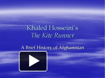 the people in the kite runner of the afghanistan history
