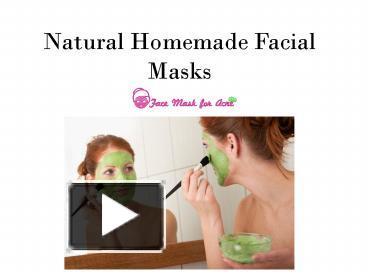 Facial Masks PowerPoint presentation