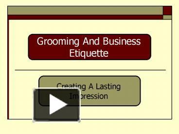business etiquette ppt free download