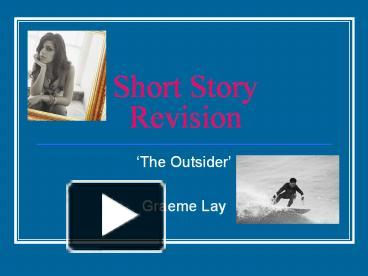 the outsider short story