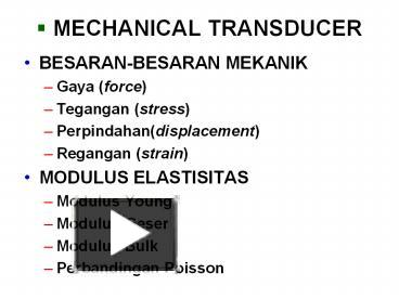 Ppt mechanical transducer powerpoint presentation free to ppt mechanical transducer powerpoint presentation free to download id 7975cc n2q5o ccuart Images