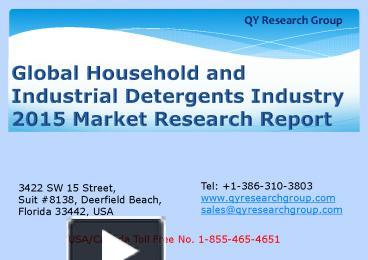 household and industrial detergents market in egypt