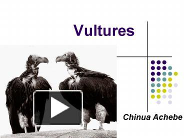 vultures by chinua achebe essay