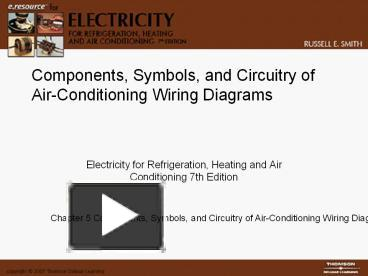 PPT – Components, Symbols, and Circuitry of Air-Conditioning ... A O Smith Air Conditioning Wiring Diagram on