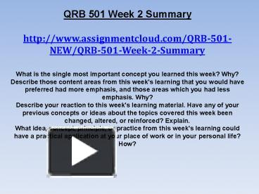 qrb 501 week 2 Qrb 501 week 2 to 6 case studies, final exam | see more ideas about 6 case, finals and 1.
