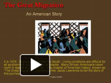 the great migration in america as an effect of the wwi