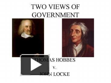 a comparison of the views of thomas hobbes and john locke