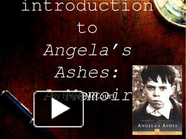 an essay on angelas ashes by frank mccourt