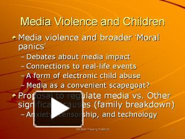debate media violence reinforces Journalism we require uncensored, diverse, trustworthy media so we can make well-informed decisions and participate fully in political life.