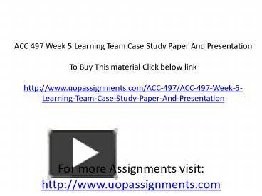 mgt 311 week 4 individual study
