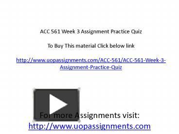 acc 561 wileyplus answers week 3 Free essays on wileyplus week 3 answers acc 561 get help with your writing 1 through 30.