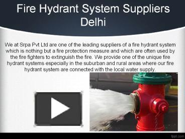 PPT – Fire Hydrant System Suppliers delhi PowerPoint presentation