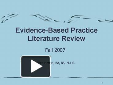 literature review of fal g This course guide is designed to help faculty, graduate, and undergraduate students in the process of conducting and writing a literature review for any discipline.