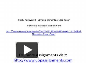 mgt 311 week 1 individual study Submitted: october 25th, 2012 (answered october 26th by solutionbrain study flashcards on mgt 311 final exam at cramcom quickly memorize the terms, phrases and much more.