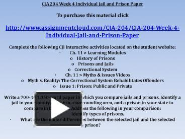 week 5 jail and prison paper cja 204 Cja 204 uop course,cja 204 uop tutors,cja 204 uop assignments 10 steps cja 204 week 5 learning team cybercrime paper.