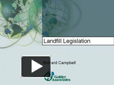 PPT – Landfill Legislation PowerPoint presentation | free to