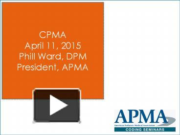 PPT – CPMA PowerPoint presentation | free to view - id