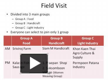 PPT – Field Visit PowerPoint presentation | free to download - id