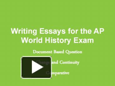 write essays ap world history exam