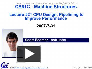 PPT – CS61C - Lecture 13 PowerPoint presentation | free to download