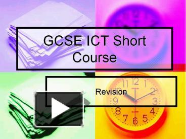 ict coursework short course