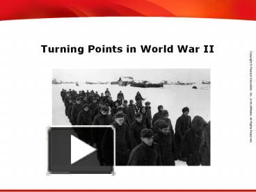 turning points in wwii essay