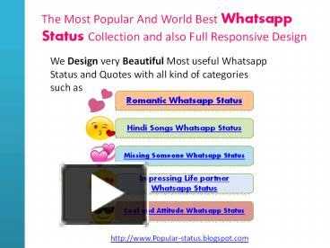 Ppt Widely Used Whatsapp Status And Quotes With All