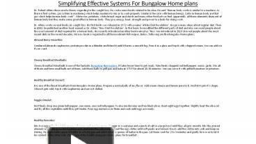 PPT – Bungalow Home plans PowerPoint presentation | free to