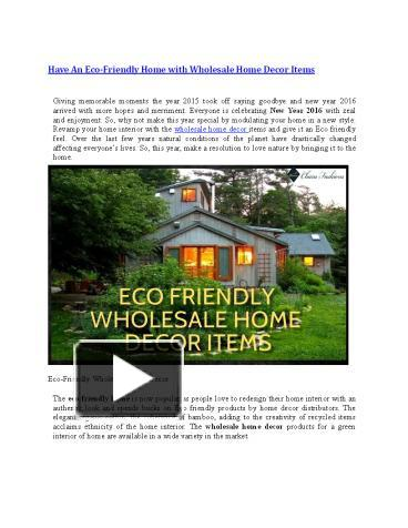 Ppt Have An Eco Friendly Home With Wholesale Home Decor Items