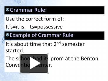 ppt grammar rule for the week powerpoint presentation free to