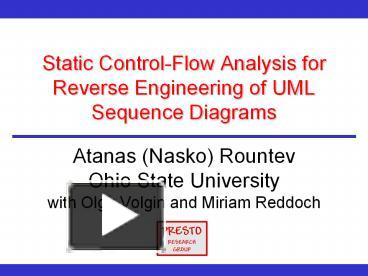 Ppt static control flow analysis for reverse engineering of uml ppt static control flow analysis for reverse engineering of uml sequence diagrams powerpoint presentation free to download id 7f68f6 mjmwy ccuart Image collections