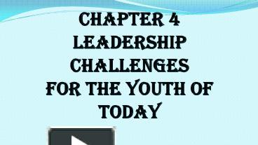 leadership challenges for the youth of today