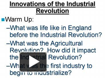 metalworking innovations of the industrial revolution in england