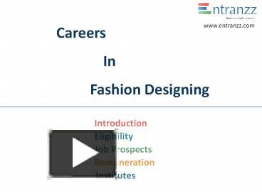 Ppt Careers In Fashion Designing Powerpoint Presentation Free To Download Id 8013c9 Nzm3y