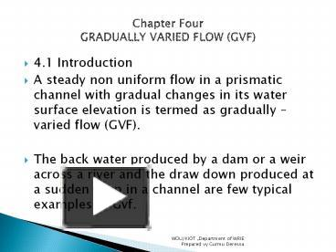 PPT – Gradually Varied Flow PowerPoint presentation | free to