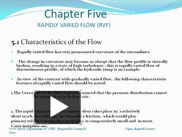 PPT – Rapidly varied Flow PowerPoint presentation | free to download
