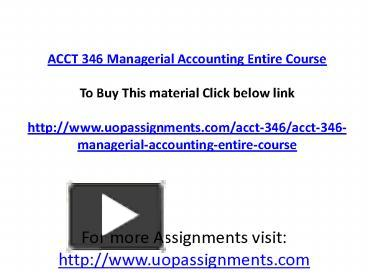 management accounting assignment questions Management accounting assignment sample posted by charles beckman on december 18 2016 management accounting is a new integrated part of the economic knowledge where the main goal is the informative and analytical support of the managers of the economic organizations to make the effective management decisions on the rational use of all.
